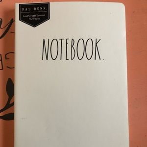 Small Rae Dunn Leatherette notebook